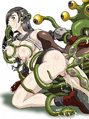 Most incredible tentacle hentai action
