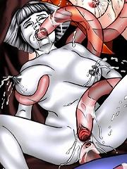Steamiest tentacle hentai pics