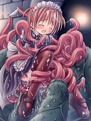 Showbiz with curvy body chokes on Dark Yugi