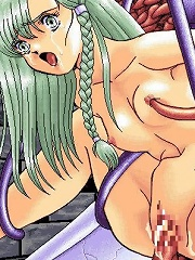 Hentai Jade with tempting knockers was poked