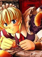 Lucky Hentai Highschool girl swallowing Chocolove