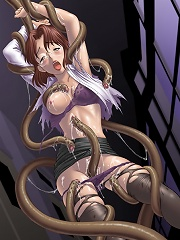 Ritsuko strips off and pleasures Evil Tentacles