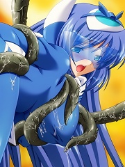 Sizzling babes survive tentacle monsters